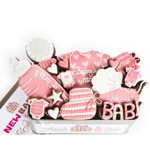 Personalised Baby Girl Biscuit Tin