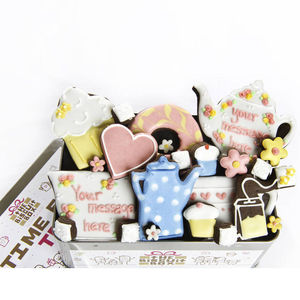 Personalised Time For Tea Biscuit Tin
