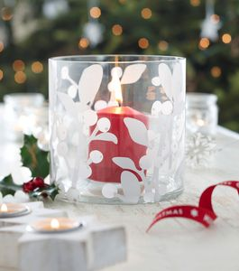 Christmas Glass Candle Holder - candles & candlesticks