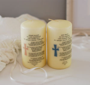 Personalised Christening Candle - christening gifts