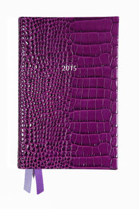 The Small Diary 2015 In Amethyst Croc