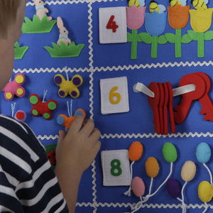 Child's Numerical Educational Wall Hanging - baby's room