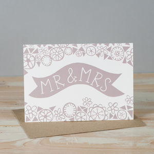 'Mr And Mrs' Cards - wedding cards