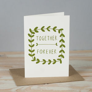 'Together Forever' Card - weddings sale