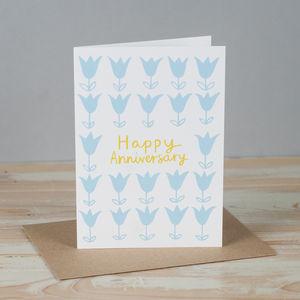 'Tulip Happy Anniversary' Card