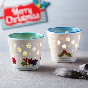 Christmas Tea Light Holder - christmas home accessories