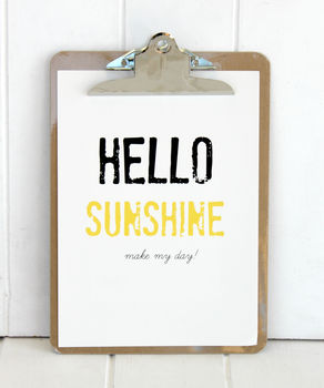 Personalised Hello Sunshine Print