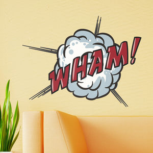 Wham! Comic Book Wall Sticker