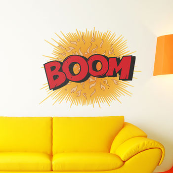 Boom! Comic Book Wall Sticker