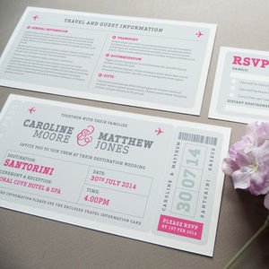 Airline Boarding Pass Wedding Invitation - invitations