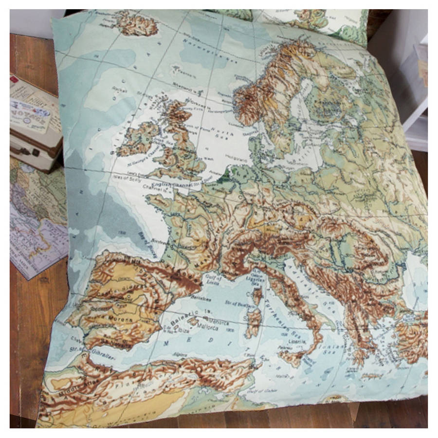 globe map vintage double duvet set by ciel  : originalglobe map vintage double duvet set from www.notonthehighstreet.com size 900 x 900 jpeg 143kB