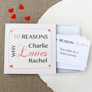 Personalised Love Notes - gifts for him