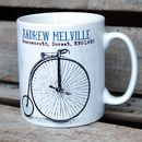Personalised Mug 'Penny Farthing' Design