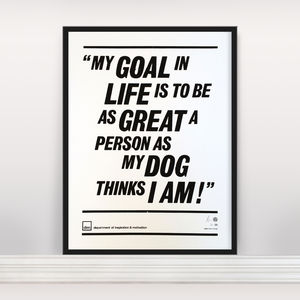 'My Goal In Life' Ltd Edition Screen Print - posters & prints