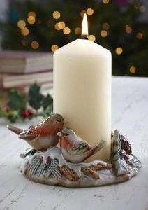 Vintage Style Robin Candle Holder - candles