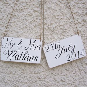 Personalised Mr And Mrs Wedding Signs - outdoor decorations