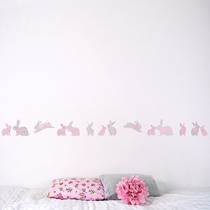 Children's Rabbit Wall Border - children's room accessories