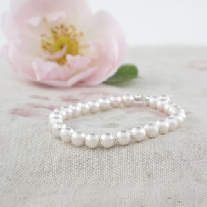 Alexia Ivory Pearl And Sterling Silver Bracelet - wedding jewellery