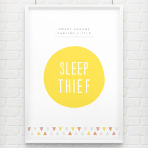 'Sleep Thief' Childrens Poster Print - dreamland nursery