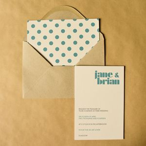 Playful Wedding Invitation - wedding stationery