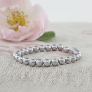 Alexia Grey Pearl And Sterling Silver Bracelet - bracelets & bangles
