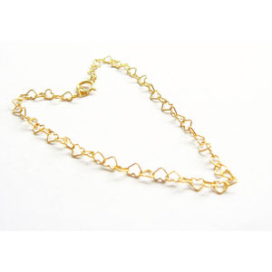 Gold Vermeil Hearts Belly Hip Chain - body jewellery