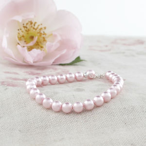 Alexia Pink Pearl And Sterling Silver Bracelet - wedding jewellery