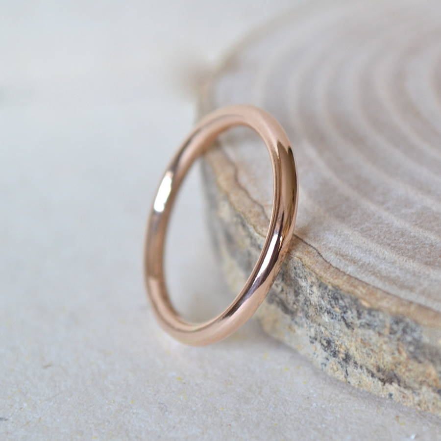 2mm Rose Gold Wedding Band By Notes