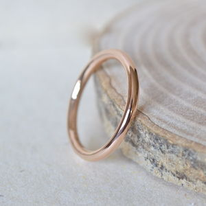 2mm Rose Gold Wedding Band - rings