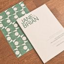 bauhaus wedding invitation in green