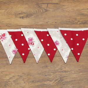 Dotty Rose Floral Bunting For Weddings Or Home Decor - occasional supplies