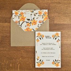 Daffodil Wedding Invitation - wedding stationery