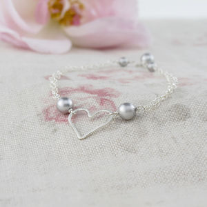 Amara Grey Pearl And Sterling Silver Bracelet - wedding jewellery