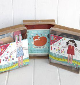 Diy Felt Fox Kit - sewing boxes