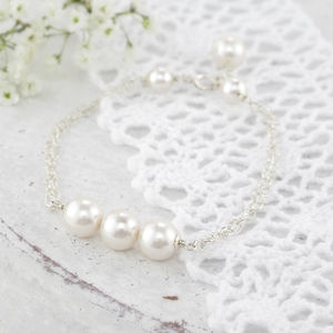 Beatrice Ivory Pearl And Silver Bracelet