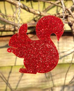Red Squirrel Necklace - women's jewellery