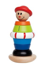 Children's Colourful Wooden Stacking Jack - toys & games