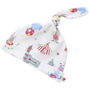 Retro Circus Print Single Knot Hat
