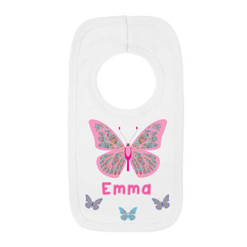 butterfly pull bib name