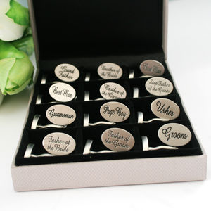 Wedding Cufflink Selection Box Twelve Pairs - cufflink boxes & coin trays