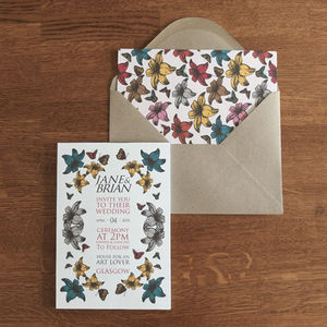 Floral Pop Wedding Invitation - invitations