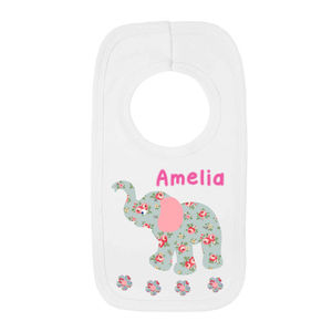 Personalised Elephant Bib