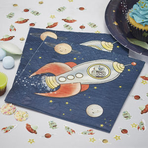 Spaceship Party Paper Napkins