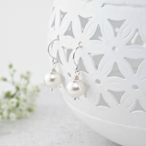 Alexia Ivory Pearl And Sterling Silver Earrings - wedding earrings