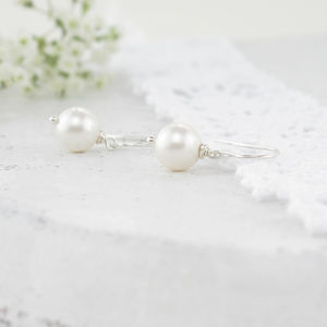Alexia Ivory Pearl And Sterling Silver Earrings - wedding fashion