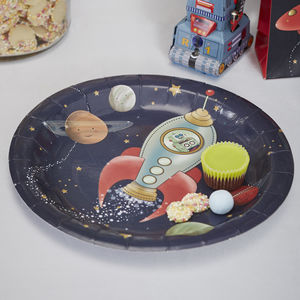 Spaceship Party Paper Plate