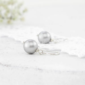 Alexia Grey Pearl And Sterling Silver Earrings