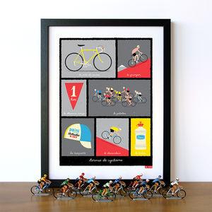 Cycling Terminology Art Print - home