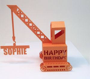 Personalised Popup Crane Birthday Card