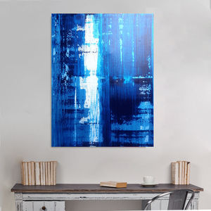 Original Abstract Art Waterfall - paintings & canvases